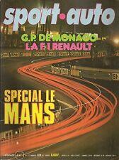 SPORT AUTO 173 1976 GP ESPAGNE GP BELGIQUE GP MONACO IMOLA BMW 533 TYRRELL P34