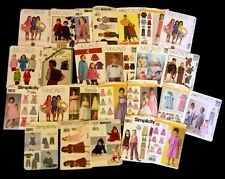 CHILDRENS PATTERNS MCCALLS, BUTTERICK,SIMPLICITY LOT OF 25 6 ARE CUT SEE#12 PIC