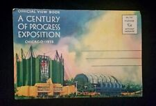 1933 World Fair Fold Out Postcards Chicago Souvenir Century Progress Exposition