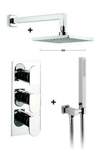 Crosswater Square 2 Way Concealed Thermostatic Valve Over Head Shower Hand Hose