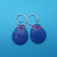 1PC BLUE EM4100/4102 Keychains 125Khz RFID Proximity ID Card /Tags /Keyfobs