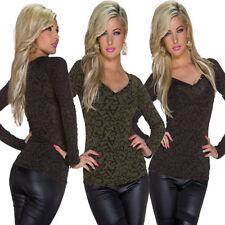 Damenblusen, - tops & -shirts mit V-Ausschnitt aus Viskose in 36