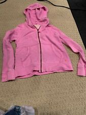 Girls Crewcuts Pink Zippered  Hoodie Sweatshirt- Size 10