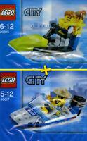 LEGO City #30015 + #30017 - Jet Ski + Police Boat - 100% New / Neuf - Unopened