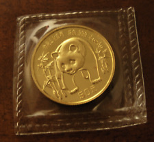 China 1986 Gold 1/2 oz Panda 50 Yuan Original Mint Sealed BU