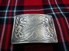 T C New Highland Saltire Lion Rampant Brass Antique Kilt Bet Buckle/kilt Buckle