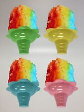 Shaved Ice / Sno Cone Flower Cups, 4 ounce (small), Case of 1000, FREE SHIPPING