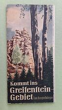 altes Reise Prospekt Kommt ins Greifenstein-Gebiet im Erzgebirge, 1959