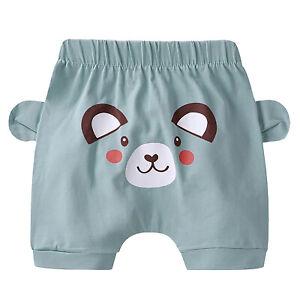 Toddler Baby Boys Girls Casual Shorts Summer Cartoon Elastic Waistband Bottoms