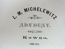 Brief KOWNO 1883: RA L. MICHELEWITZ wg. Christian-KOB-Forderung an MUSCHKATBLAT