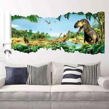 Large Jungle Dinosaur Wall Stickers Vinyl Home Room Murals Decal Xmas Gifts a