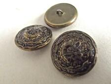 3 Vintage Metal Oxfordshire & Buckinghamshire Large British Military Buttons