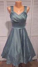 NWOT Women's Cast an Elegance Dress in Seaglass Sz L A-Line Rockabilly Pin-Up