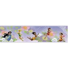 DISNEY TINKERBELL FAIRY Wallpaper Stickers Wall Border Room Decor Decals Fairies