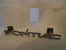 "1976 Pontiac Bonneville Metal "" Pontiac "" Grill Emblem Insignia Pt 495900"