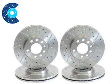 TVR Chimaera V8 Drilled Grooved Brake Discs Front Rear