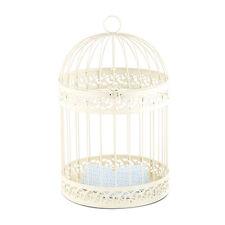 Ivory Decorative Birdcage Card Box Wishing Well Wedding Bridal Shower Decoration
