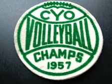 """Vintage 1957 Volleyball Champs Jacket Felt Patch CYO Volleyball 4"""""""