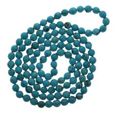 "Faceted 6mm Turquoise Necklace, Magnesite, 32"" Necklace"