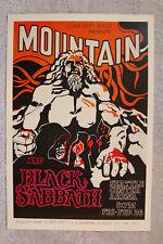 Black Sabbath Concert tour poster 1971 Seattle