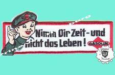 Nimm Dir Zeit und ...- Patch Aufnäher  Nascar Vintage Hot Rod Old School Racing
