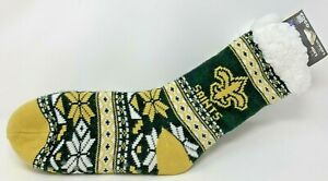 NEW!! NFL New Orleans Saints - Footy Slippers - Size (W) 6-10 (M) 5-9 - Non Skid