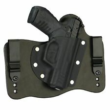 FoxX Holsters Leather & Kydex IWB Hybrid Holster Ruger SR22 Black Right Conceal