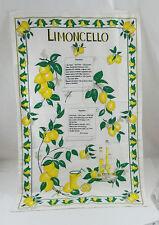 Limoncello Recipe Tea Towel 100% Cotton Kitchen Bar Italy