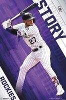 TREVOR STORY - COLORADO ROCKIES POSTER - 22x34 MLB BASEBALL 15618