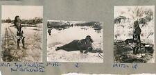 TAHITI c. 1940 - Type d'Indigènes des Tuamotu 3 Photos - TC80