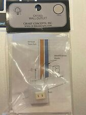 Dollhouse Miniature Cir-Kit Concept Electrical Wall Outlet CK1003. 1:12 Scale