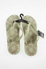 Paul Frank XL Size 13+ $17.50 Pastel Green Lion Head Men's Flip Flops 118125004