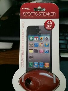 Vibe Sound Sports Football Speaker Compatible with IPhone 4/4S, 4X Sound (PS6)