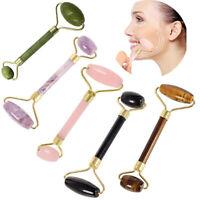 Gua Sha Face Jade Stone Roller Facial Skin Thin Massager Tool Nett