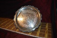 "Webster Wilcox IS ""American Rose"" 7371 International Silver Co. Platter Tray 13"""
