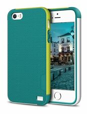 LoHi iPhone 5 5S SE Case TPU Silicon Anti Scratch Shockproof  - Green White
