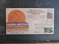1986 1st DAY THIRLMERE TRAIN PICTORIAL POSTMARK CARRIED COVER