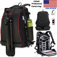 K7-7 Black Large Professional Camera Bag Backpack For Canon Nikon Sony Leica SLR