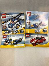 Lego Set 4995 INSTRUCTIONS ONLY Creator Cargo Copter Manual 2 Books 5765 & 5867