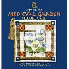 Medieval Garden Needle Case Counted Cross Stitch Kit by Textile Heritage