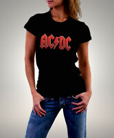 ACDC  Logo Official Women's Black T-Shirt