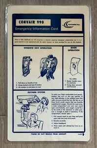NOMADS CONVAIR 990 SAFETY CARD 11/15/75