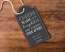 12 Chalkboard Personalized Wedding Bridal Shower Thank You Favor Tags Q36908
