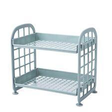 2 Tier Desktop Desk Organizer Storage Rack Display Table Shelf Office Bathroom