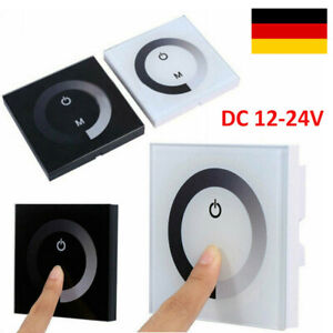 Wand Einbau Led Controller 12V-24V 8A Led Dimmer Touch Panel für LED Strips DE