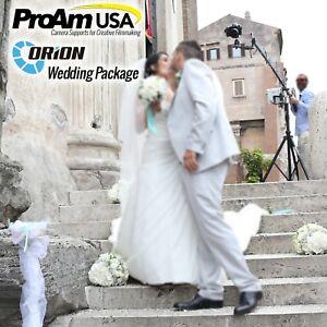 ProAm USA Orion DVC210 Wedding Production Package 12ft Camera Crane Jib