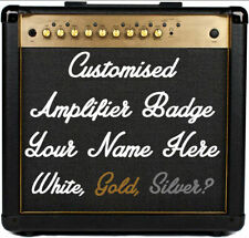 Custom Guitar Amplifier Badge Emblem Amp Cab Logo Sign Text for Marshall