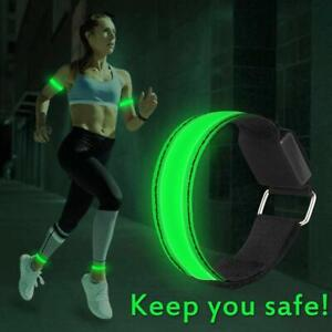 Rechargeable LED Armband Ankle Flash Light Night Safety Running Fast