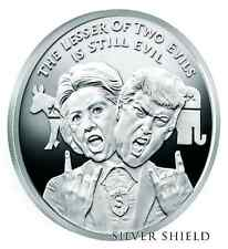 2016 1oz .999 - Silver Shield - Lesser Evil- Wizard Of Us - Trump Clinton Proof