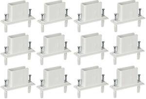 12 Rubbermaid Closetmaid Fast Set Wall End Shelf Shelving Wire Bracket Preloaded